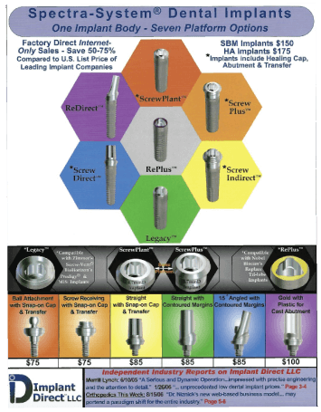 Implant Direct LLC catalog